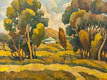 Deszo Koenig (SA 1902 - 1972) Oil, Landscape with