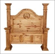 7th StepÂ?s Star Accented Tall Post Bed