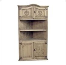7th StepÂ?s Star Accented Large Corner Bookcase