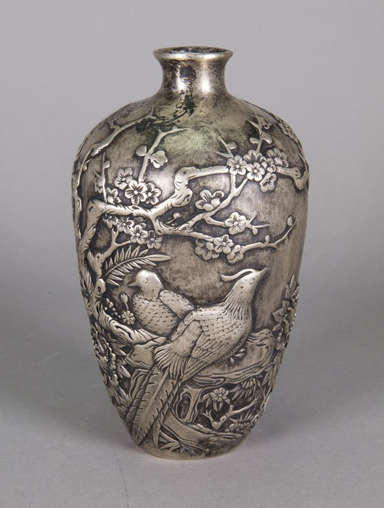 Chinese Phoenix Bronze Vase Ming Xuande Mark