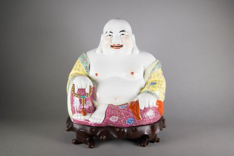 Chinese Porcelain Figure of Laughing Buddha