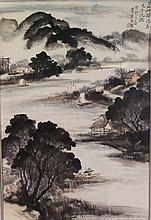 Wu Shixian 1845-1916 Watercolour on Paper Framed
