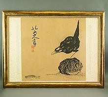 Watercolour on Paper Frame Bada Shanren 1626-1705