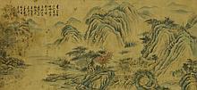 Watercolour on Paper Scroll Wang Hui 1632-1717