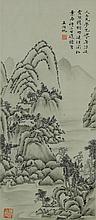 Wu Hufan Landscape 1894-1968 Watercolor Scroll