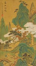 Qiu Ying 1494-1552 Watercolour on Silk Scroll