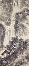 Fu Baoshi 1904-1965 Watercolor on Paper Scroll