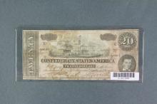 Feb 17 1864 Confederate States of America $20 Bill