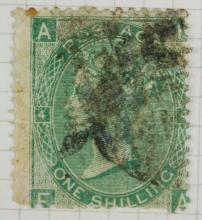 British One Shilling 1865 Stamp