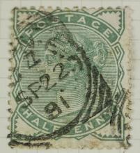 British Half Penny 1880-1881 Stamp