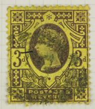 British 3 Pence 1887-1892 Stamp