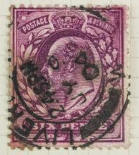 British Six Pence 1902-1911 Stamp