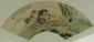 Chinese Watercolour Fan Painting Cheng Zhang 1869
