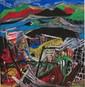 Abstract Folk Art Painting by Xu ZhongFang