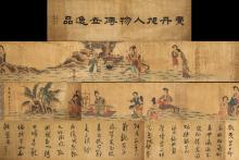 Fei Danxu 1802-1850 Chinese Watercolour Handscroll