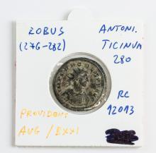 276-282 Ancient Rome Antoninianus Claudius II Coin