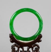 Imperial Burma Green Jadeite Bangle Certificate
