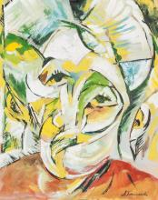 Alexander Bogomazov Russian Cubist Gouache