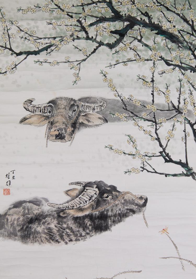 Chinese WC Fang Chu Xiong (1950-) Plum Blossom