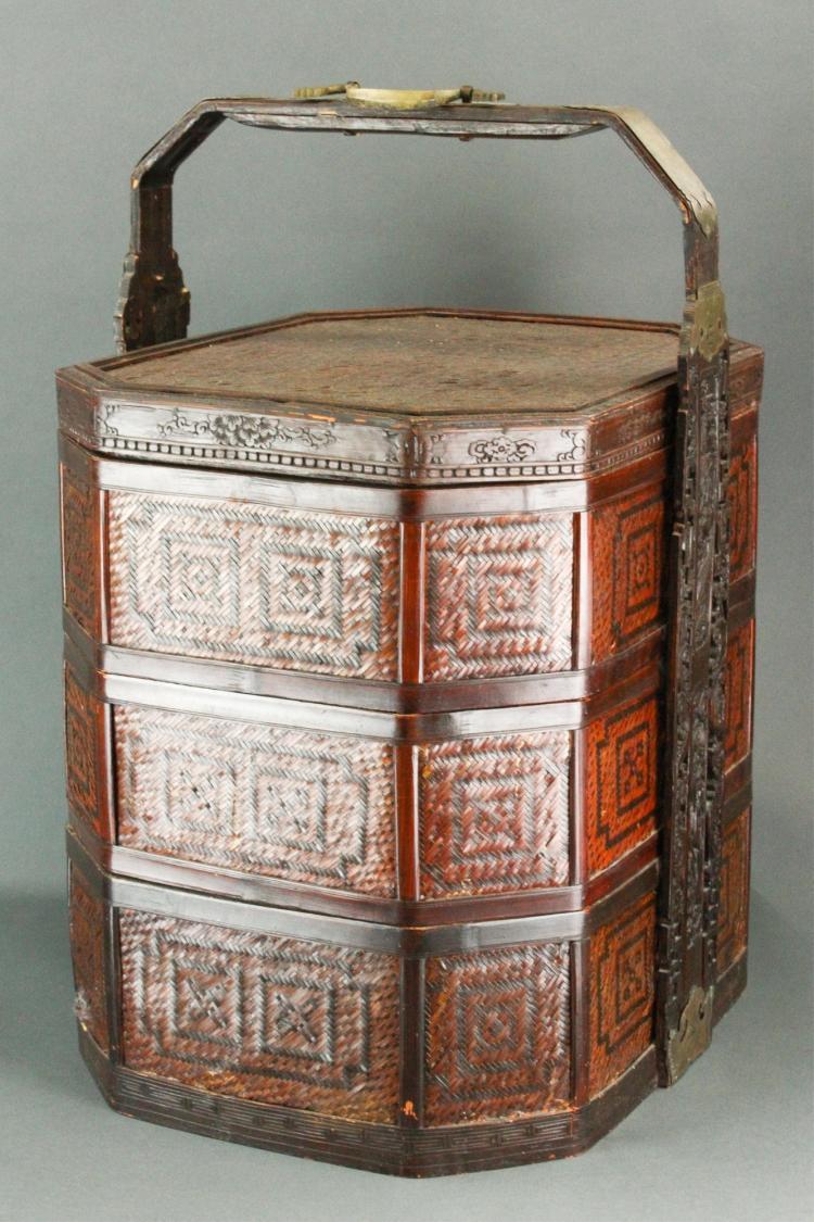 Chinese Bamboo Basket Qing Period