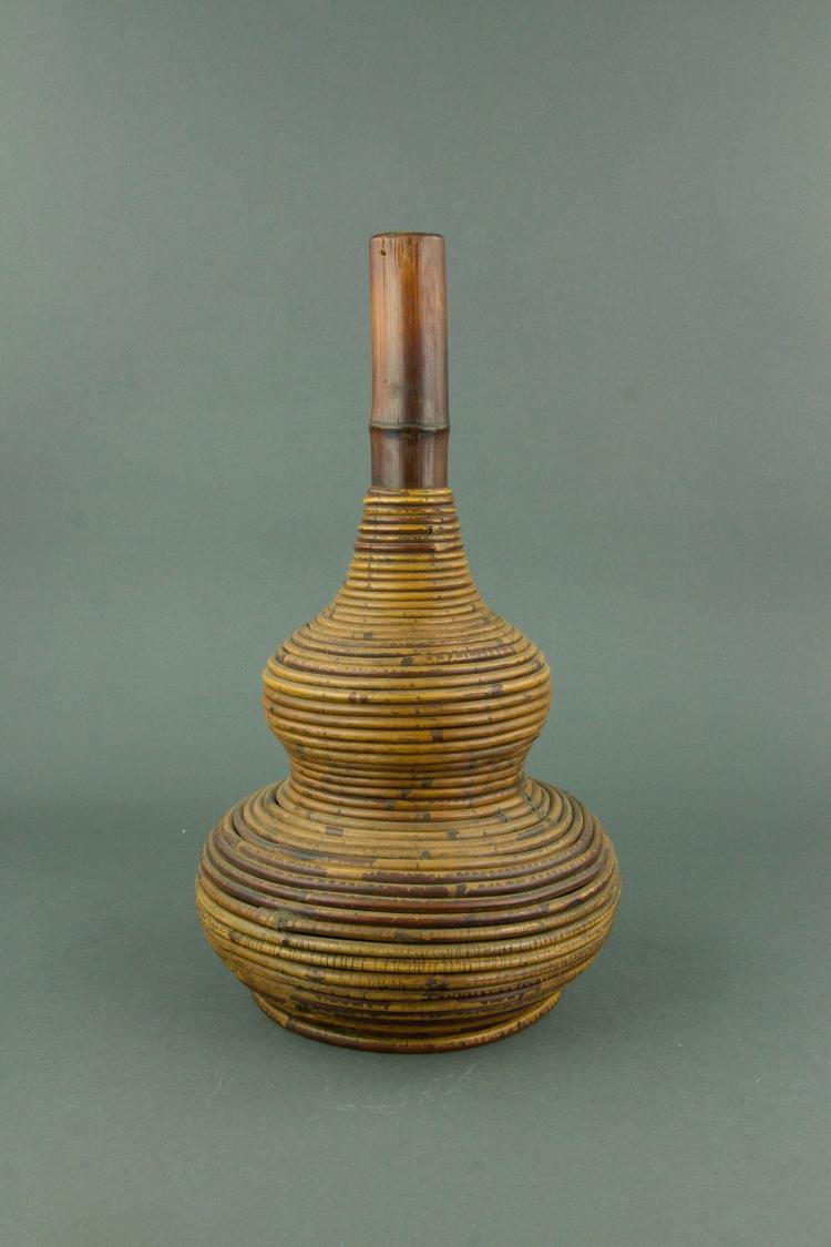 Chinese Rattan Vase Qing Period