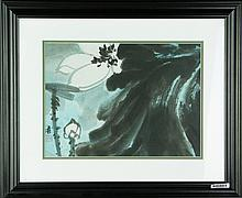 Zhang Daqian 1899-1983 Watercolour on Paper Frame