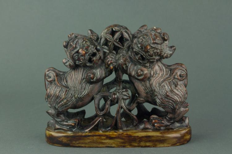 Chinese Fine Stone Carved Double Lions Seal