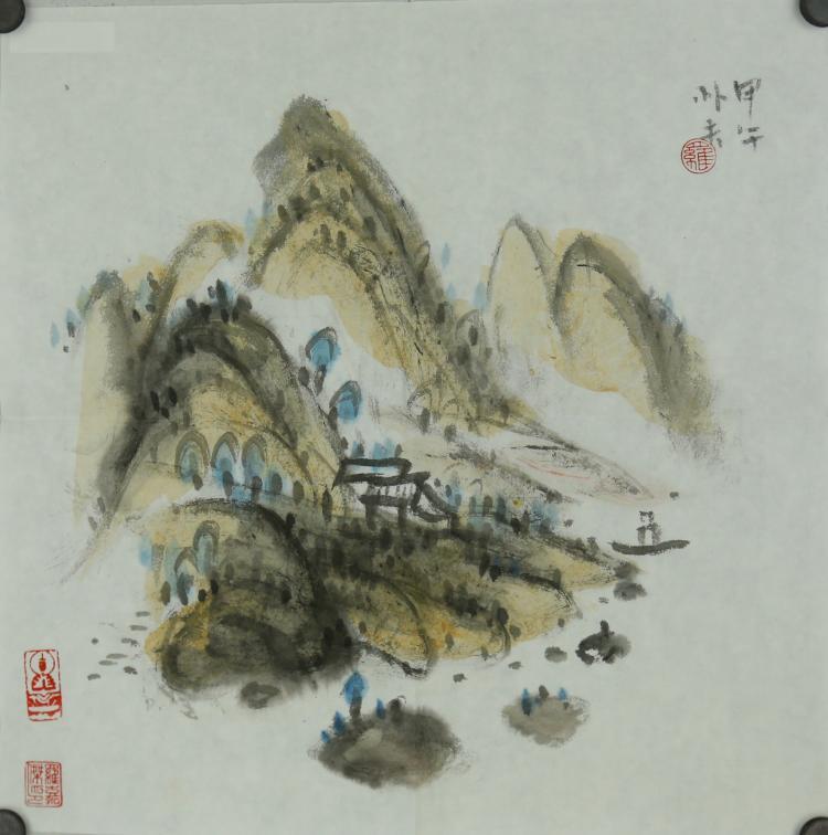Luo Pufu b.1989 Watercolour on Paper