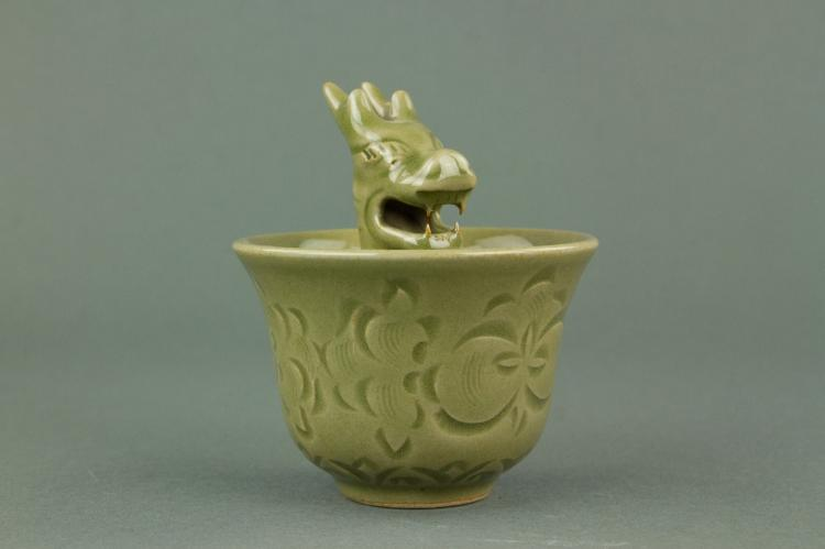Chinese Longquan Dragon Head Porcelain Cup