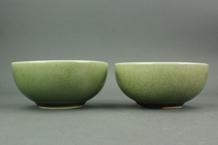 Pair of Yuan/Ming Style Porcelain Bowls