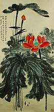 Zhang Daqian 1899-1983 Watercolour on Paper Scroll