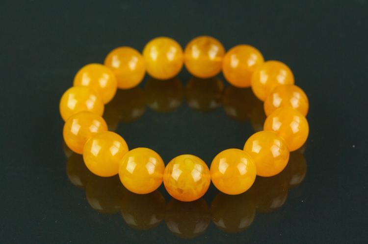 Chinese Yellow Amber Bracelet