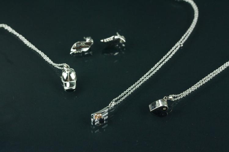 Four Pieces of Sterling Silver Rhodium Jewellery