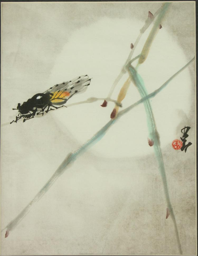 Zhao Shaoang 1905-1998 Watercolour on Paper