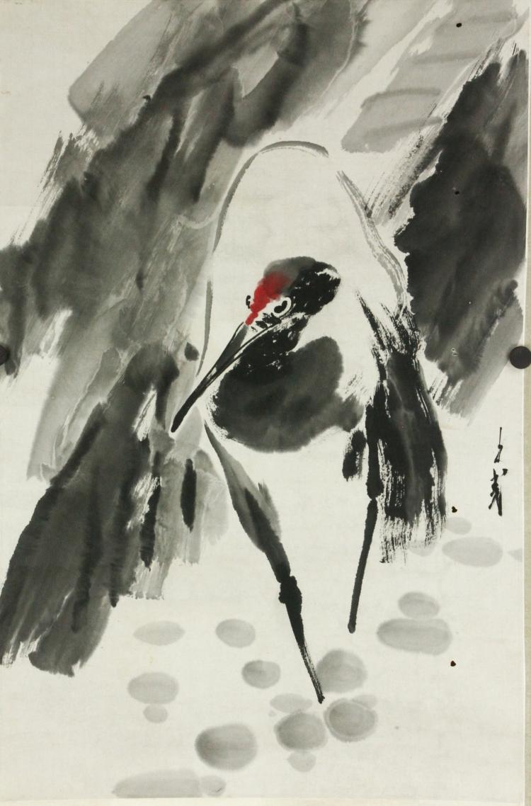 Wang Ziwu b.1936 Watercolour on Paper Scroll