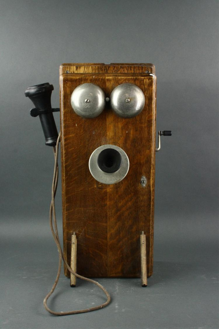 Canadian Antique Wall Telephone Set