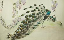 Yuan Xiaocen 1915-2008 Watercolour on Paper Scroll
