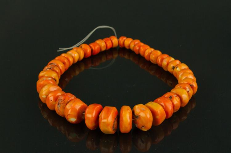 Chinese Fine Large Natural Red Coral Necklace