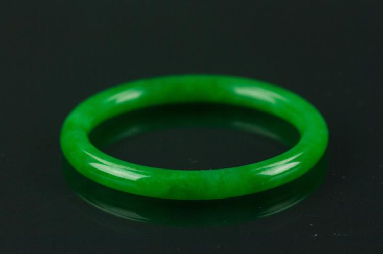 Certified Grade A Natural Green Jadeite Bangle