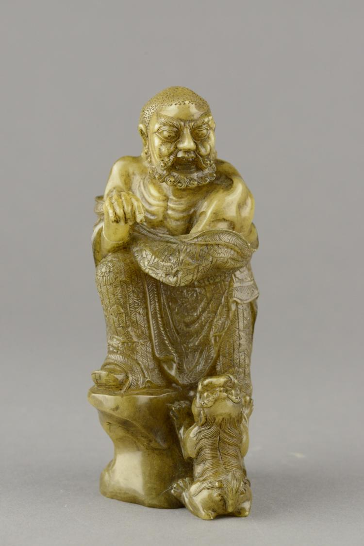 Chinese Fine Shoushan Stone Carved Lohan