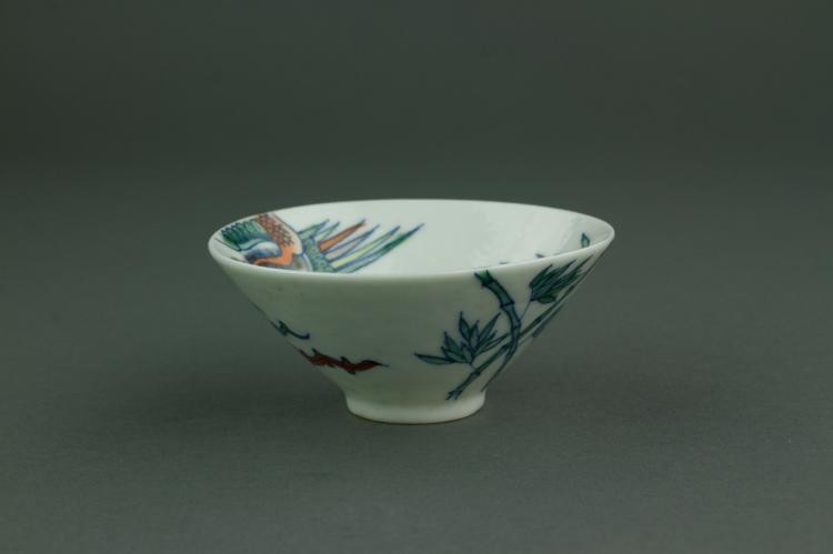 Chinese Ducai Porcelain Wine Cup Chun Yi Tang MK
