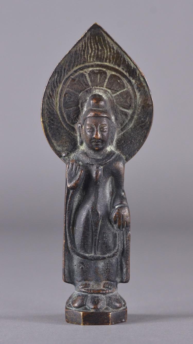 Chinese Bronze Cast Figure of Bodhisattva