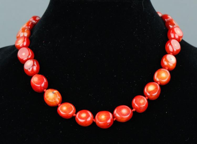 Natural Sea Coral Necklace