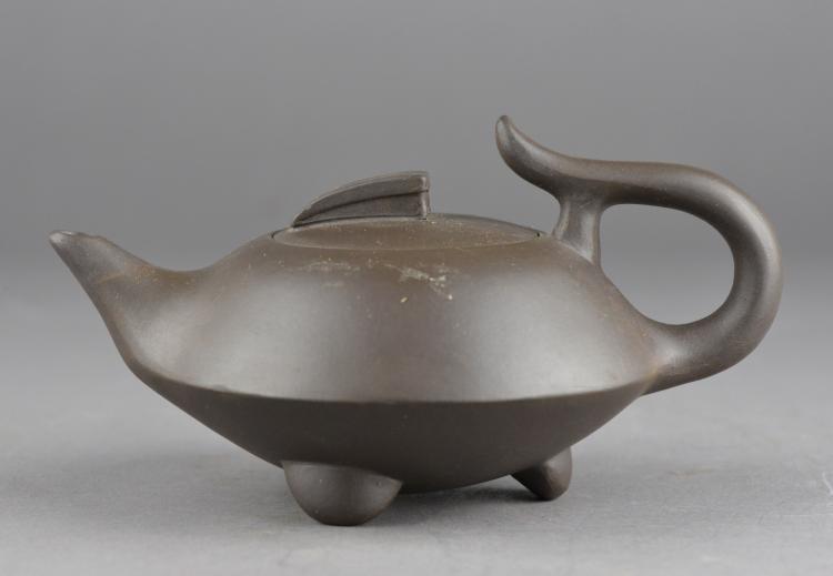 Chinese Zisha Pottery Tea Pot Ge Taozhong Zhi MK