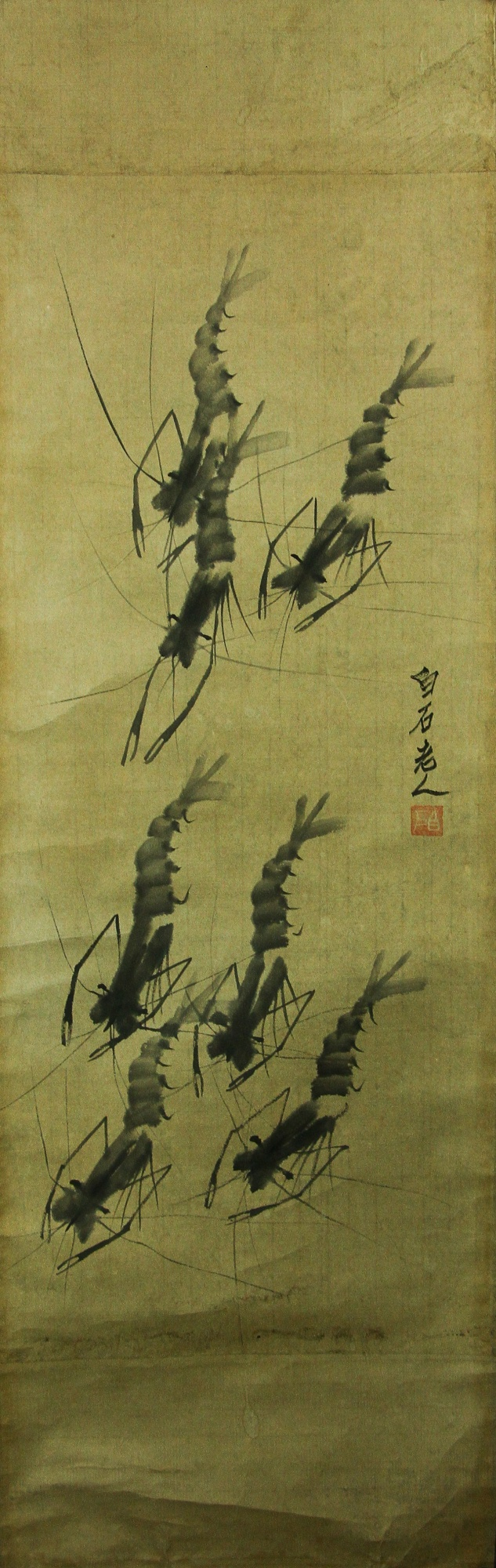 Qi Baishi 1864-1957 Ink on Paper Scroll