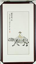 Li Keran 1907-1989 Watercolour on Paper Framed