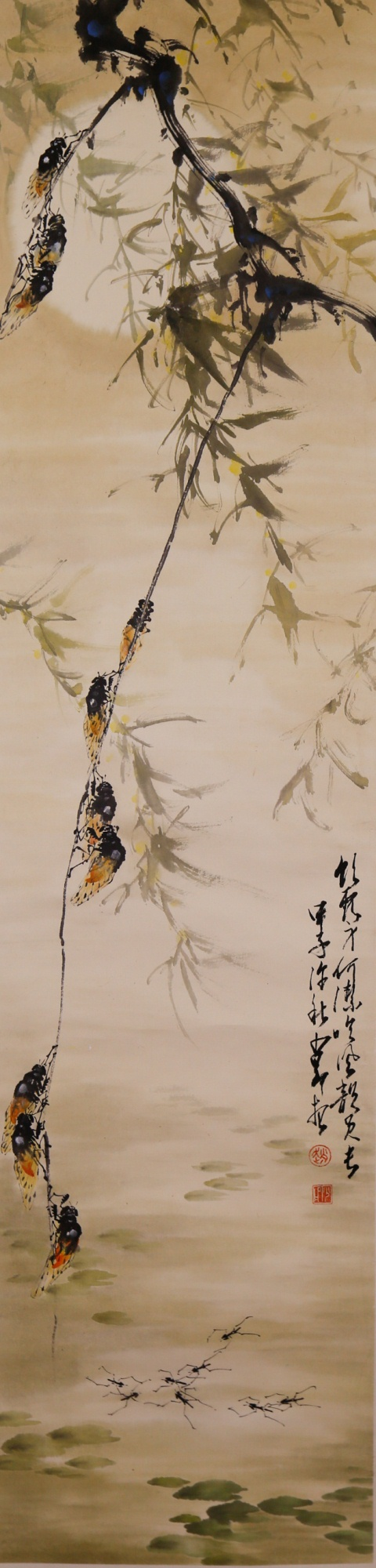 Zhao Shao'ang 1905-1998 Watercolour on Paper Scroll