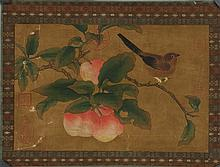 Old Chinese Painting on Silk w Imperial Stamps