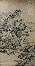 Chinese Landscape Painting Signed Wang Shi Gu
