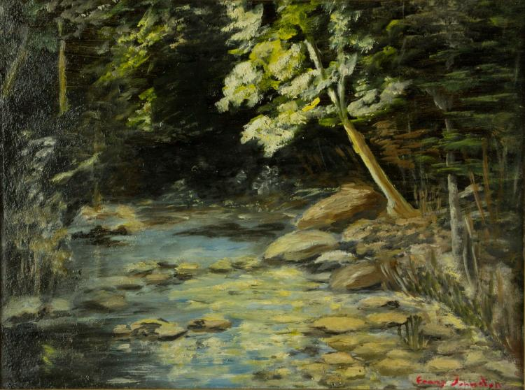 Frank Johnston 1888-1949 Oil Painting on Panel